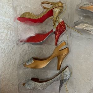 Dazzling Shoe Ornaments, 3 Sets of 4